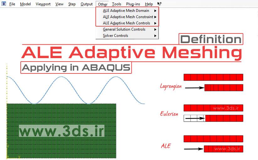 تکنیک ALE Adaptive Mesh در آباکوس (تکنیک مش سازگار یا تطبیقی در آباکوس)