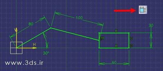 شبیه سازی مکانیزم های دوبعدی با ابزار Animate Constraint در محیط Sketcher نرم افزار کتیا