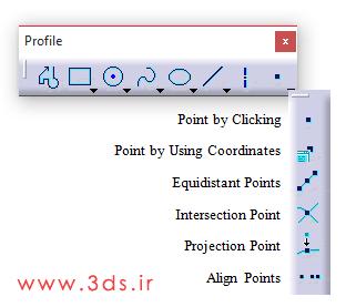ابزار ترسیم نقطه در نرم افزار کتیا