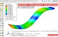 تحلیل ارتعاشات بال هواپیما در آباکوس
