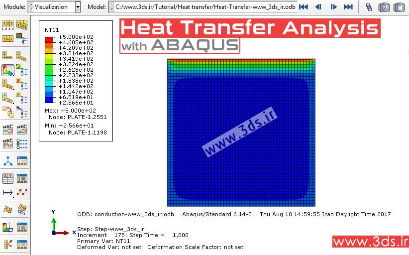 آموزش تحلیل انتقال حرارت در ورق توسط نرمافزار آباکوس