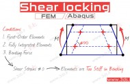 Shear locking چیست؟