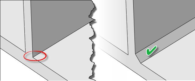 ایجاد فیلت (پخ) در تحلیل جوش T شکل در آباکوس