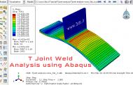 مدلسازی و تحلیل جوش T شکل در آباکوس