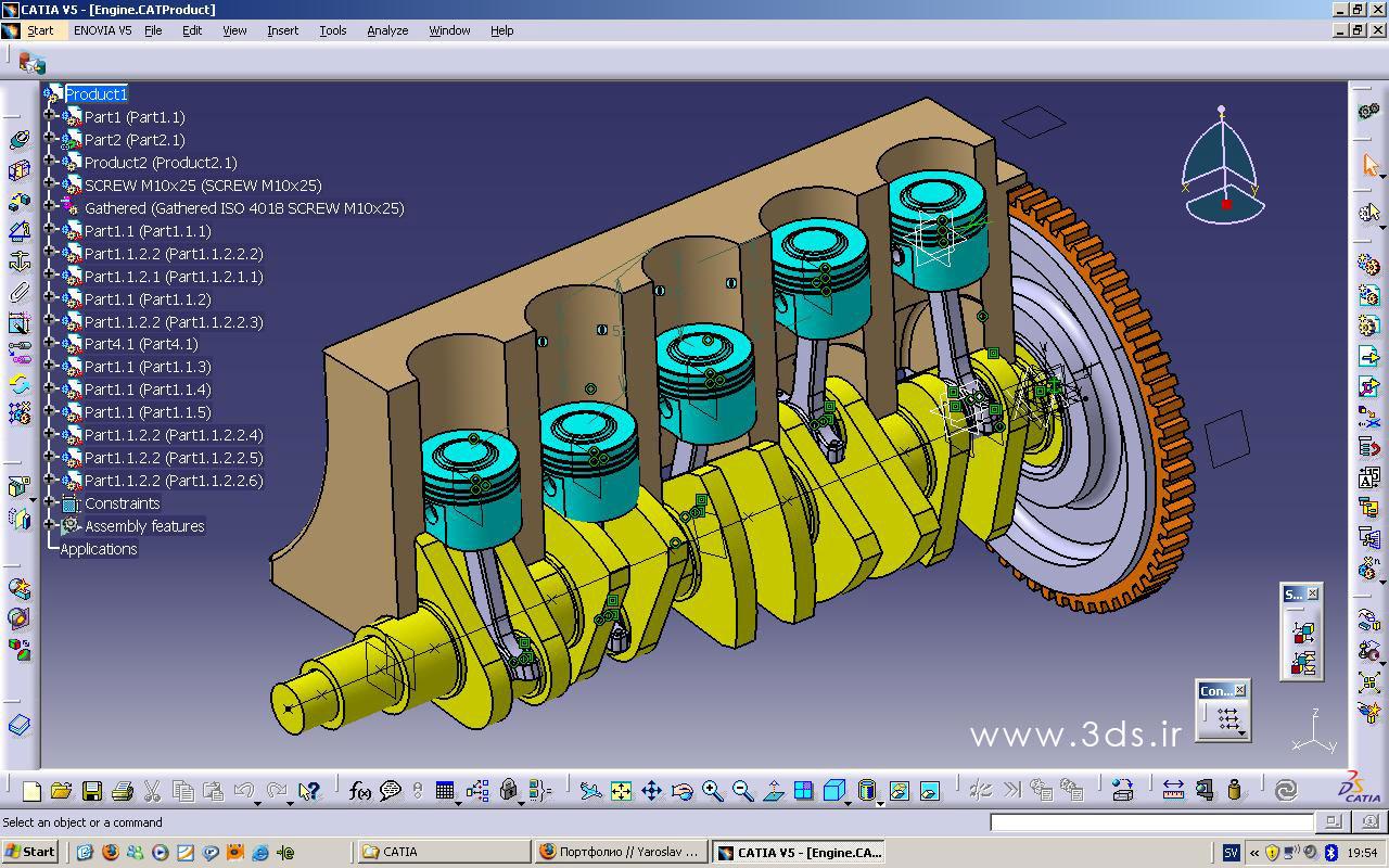 معرفی محیط Assembly Design نرم افزار Catia
