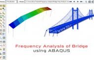 تحلیل ارتعاشات و استخراج فرکانس طبیعی یک پل در آباکوس
