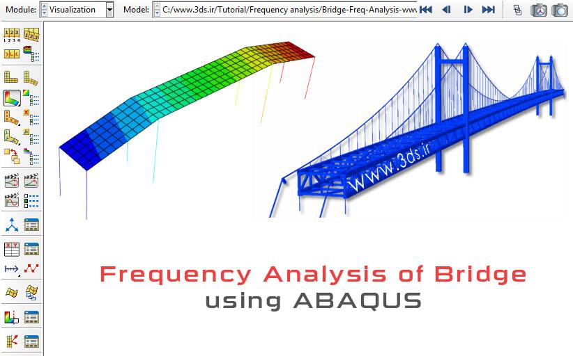 استخراج فرکانس طبیعی یک پل در آباکوس
