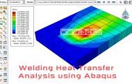 تحلیل انتقال حرارت در فرآیند جوشکاری توسط نرمافزار آباکوس