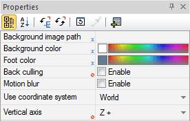 پنل Properties در نرمافزار 3DVIA Composer