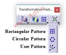 جعبه ابزار Transformation Features نرمافزار Catia