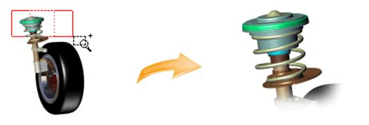 نحوه بزرگنمایی و کوچکنمایی یک ناحیه در نرمافزار 3DVIA Composer