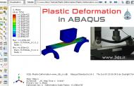 تحلیل خمش سه نقطه در آباکوس | تغییر شکل پلاستیک در ABAQUS
