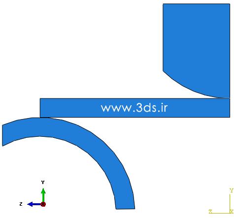 تغییر شکل پلاستیک در آباکوس - خمش سه نقطه