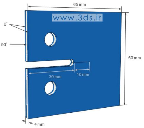 تحلیل رشد ترک سهبعدی ورق کامپوزیتی با روش XFEM در آباکوس