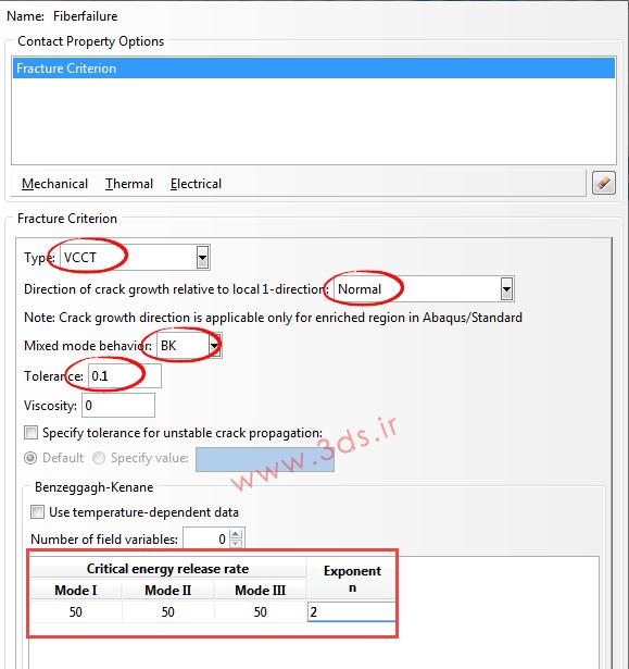 تنظیمات تماس در آنالیز رشد ترک ورق کامپوزیتی با روش XFEM در نرمافزار ABAQUS
