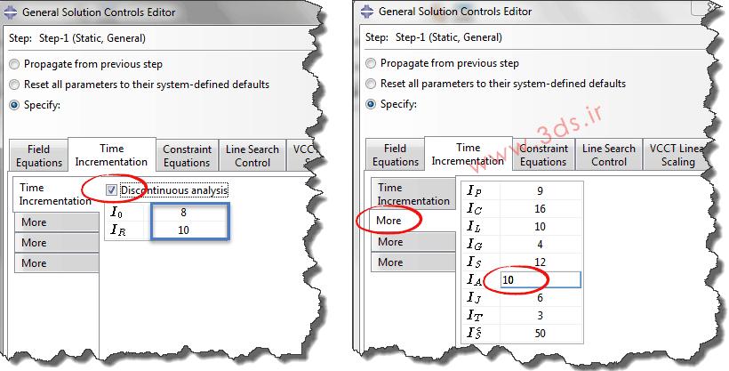 تنظیمات ماژول Step در آنالیز رشد ترک ورق کامپوزیتی با روش XFEM در نرمافزار ABAQUS