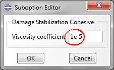 تنظیمات Damage Stabilization Cohesive در تحلیل رشد ترک سهبعدی ورق کامپوزیتی با روش XFEM در آباکوس