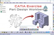 طراحی و مدلسازی سهبعدی در محیط Part Design نرمافزار CATIA - تمرین اول