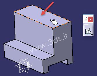 دستور Pad جهت اکسترود کردن پروفیل در CATiA