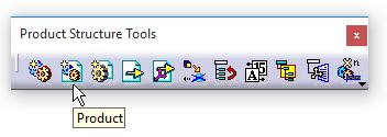 دستور Product در جعبهابزار Product Structure Tools کتیا