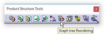 دستور Graph tree Reordering در جعبهابزار Product Structure Tools کتیا