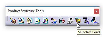 دستور Selective Load در جعبهابزار Product Structure Tools کتیا