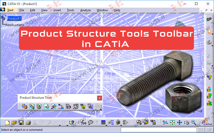 جعبهابزار Product Structure Tools کتیا