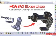 تمرین مونتاژ محصول در محیط Assembly Design نرمافزار کتیا - تمرین اول