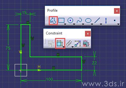 ابزار Profile صفحه Sketch