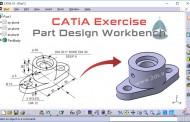 تمرینهای مدلسازی در محیط Part Design کتیا - تمرین چهارم