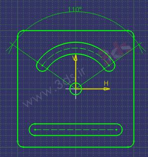 تمرین محیط Sketcher کتیا،ابزار Constraint