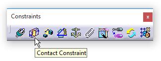 دستور Contact Constraint درجعبهابزار Constraints محیط Assembly Design کتیا