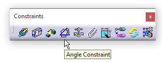 دستور Angle Constraint درجعبهابزار Constraints محیط Assembly Design کتیا