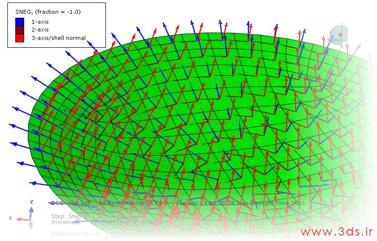 نمایش Material Orientation در ماژول Visualization نرمافزار آباکوس