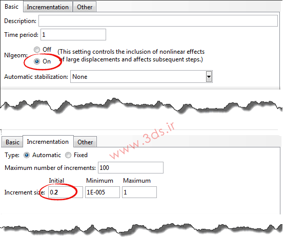 تنظیمات حلگر در تحلیل اتصالات رزوهدار در آباکوس