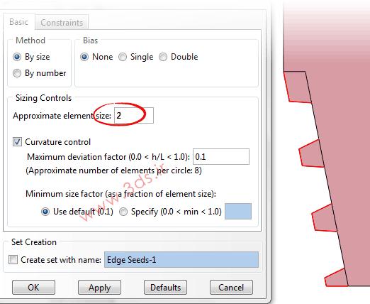 تنظیمات مشبندی در تحلیل اتصالات رزوهدار توسط آباکوس