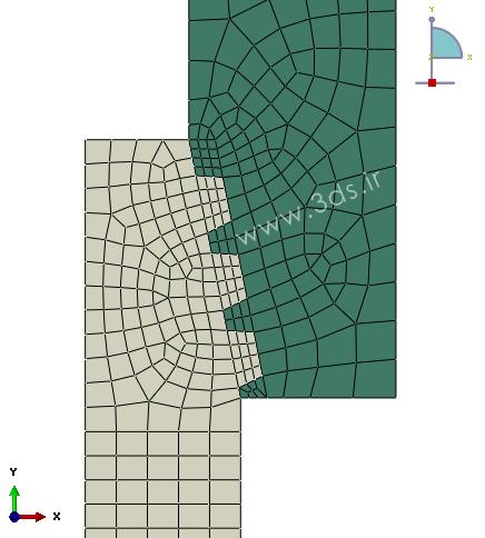 مشبندی در تحلیل اتصالات رزوهدار توسط abaqus