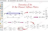 یافتن فرمول ماتریس سختی برای هر المان | محاسبه ماتریس سختی المان میله