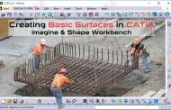 ایجاد سطوح پایه در محیط Imagine & Shape نرمافزار کتیا