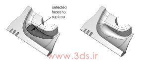 ابزار Replace جعبهابزار Geometry Edit آباکوس