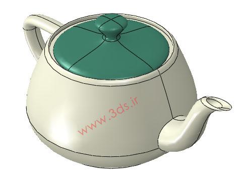 فایل cae تحلیل انتقال حرارت قوری چای با آباکوس