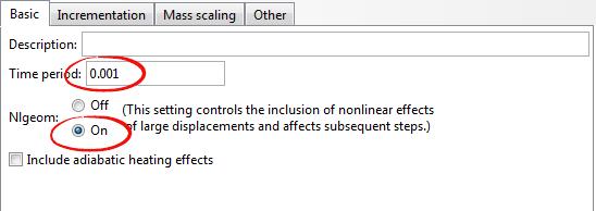 تنظیمات حلگر در تحلیل برخورد توپ با صفحه توسط آباکوس