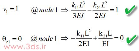 معادلات دوران و تغییر مکان محور خنثی المان تیر صفحهای