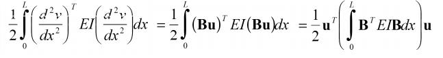 انرژی ذخیره شده در المان beam