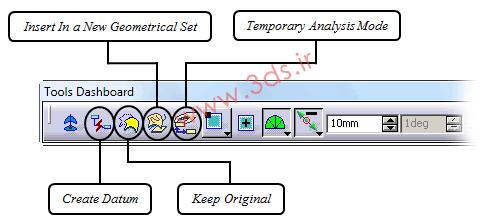 ابزارهای جعبهابزار Tools Dashboard در محیط FreeStyle نرمافزار کتیا
