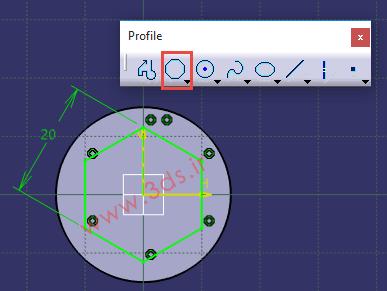 تنظیمات دستور Polygon در کتیا