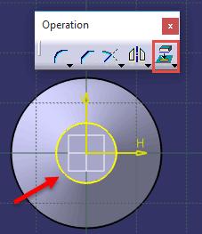 دستور Project 3D Elements در کتیا