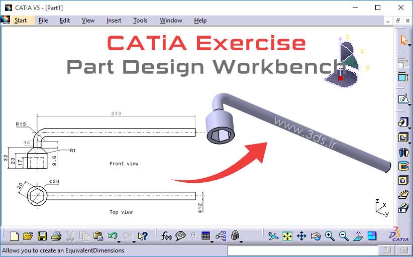 تمرینهای کتیا Part Design – تمرین پنجم