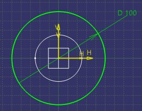 تنظیمات دستور Circle در کتیا