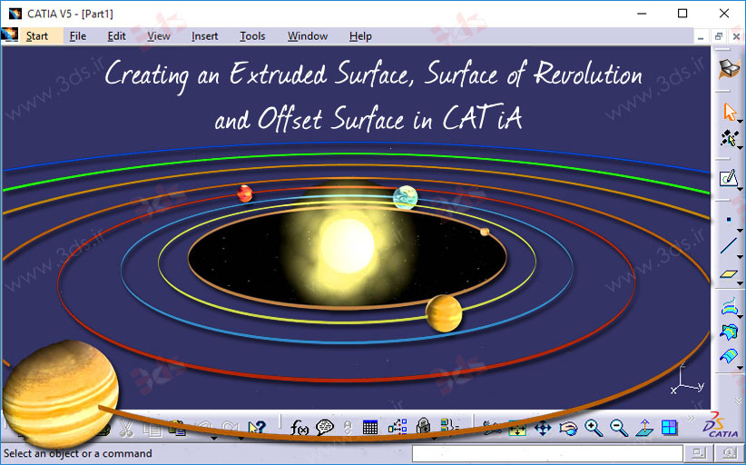 ابزارهای Extrude ،Revolve و Offset در محیط Generative Shape Design کتیا